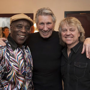 Buddy Guy, Roger Waters, and Tom Hambridge 10 June at B.B. King Blues Club in New York City.