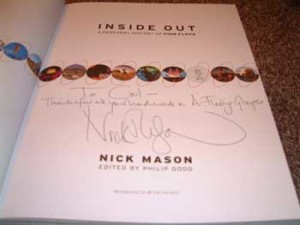 "Col's copy of Inside Out Nick has written the following. ""To Col - Thanks for all your hard work on A Fleeting Glimpse"" Thank you Nick!"