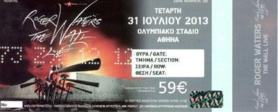 Ticket scan thanks to George Kargiolakis