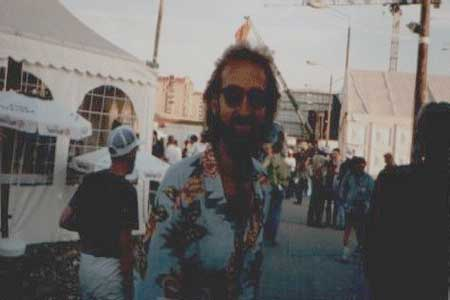 "Mike Rutherford, backstage area. Tom said; ""He was really cool, not even there to perform, just hanging out and watching with the rest of us!"""