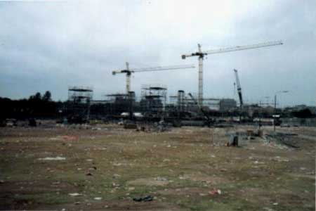 The site the day after.
