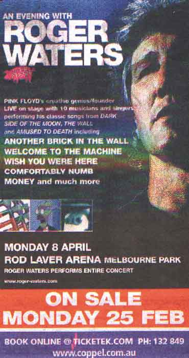 From Melbourne Herald-Sun Sunday 17th Feb 2002 Thanks to Mike Burrows