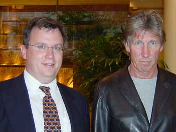 Tim Hallam with a pensive Roger Waters