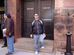 Brent at stage door looking for band