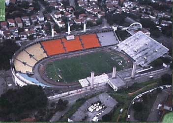 Aerial shot of the venue