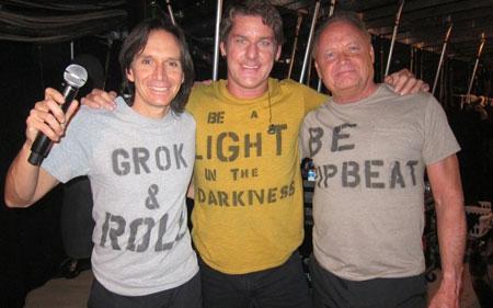 Backstage in Ottawawith Kipp Lennon, Robbie Wyckoff and Pat Lennon (photo courtesy of Jon Joyce)