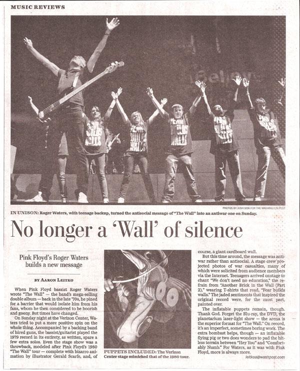 Washington Post 12 Oct clipping thanks to Elliot Tayman