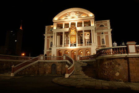 The beautiful Teatro Amazonas in Manaus Brazil