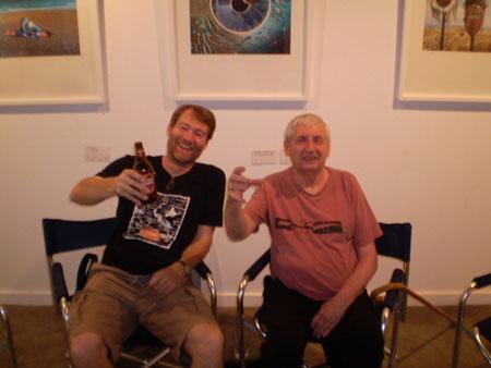 Photographer Rupert Truman & Storm toast AFG