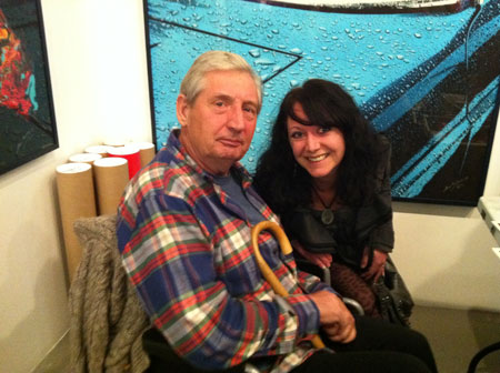 Storm Thorgerson with AFG's Natalie Thake