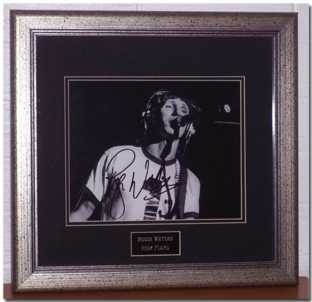 An autographed picture of Roger Waters from the late 1980's