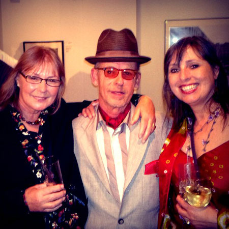 Left: Jenny Spires with Jeff Dexter and author Jill Drower
